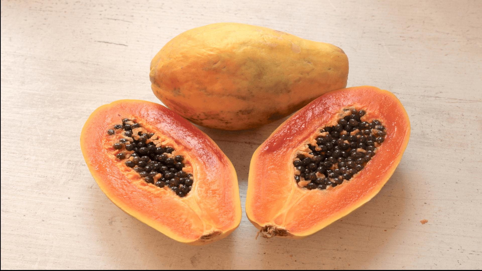 papaja owoce wspomagające odchudzanie
